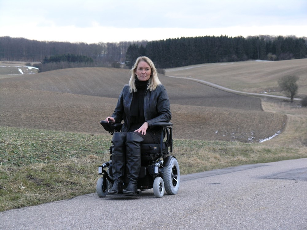TA IQ Electric Wheelchair on the road