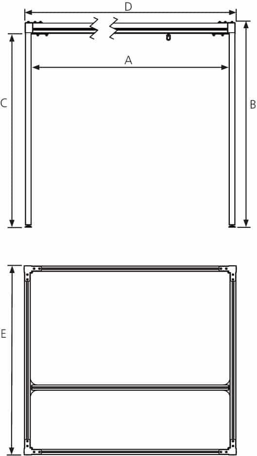 Molift Quattro Technical Drawing
