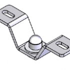 Molift Ceiling Hoist Ceiling bracket set - 40 mm