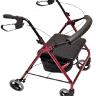 "Peak Care Ellipse 8"" Rollator - Red"