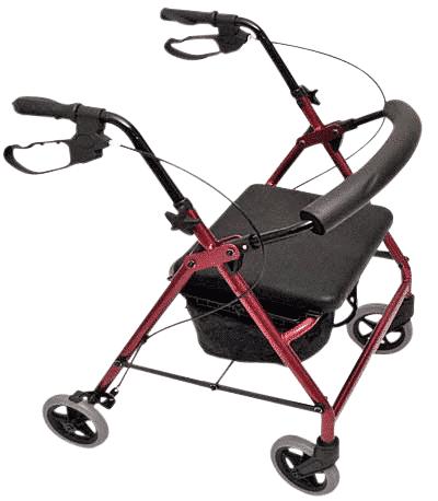 Peak Care Ellipse 6″ Rollator