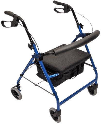 "Peak Care Ellipse 6"" Rollator - Mottled Blue"