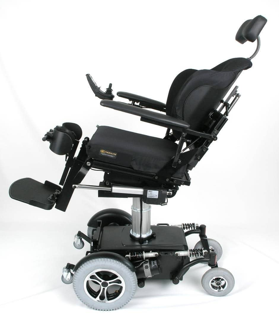 TA iQ Stand Up Chair - Side view in tilt