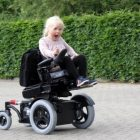 TA iQ Paediatric Power Chair on the driveway
