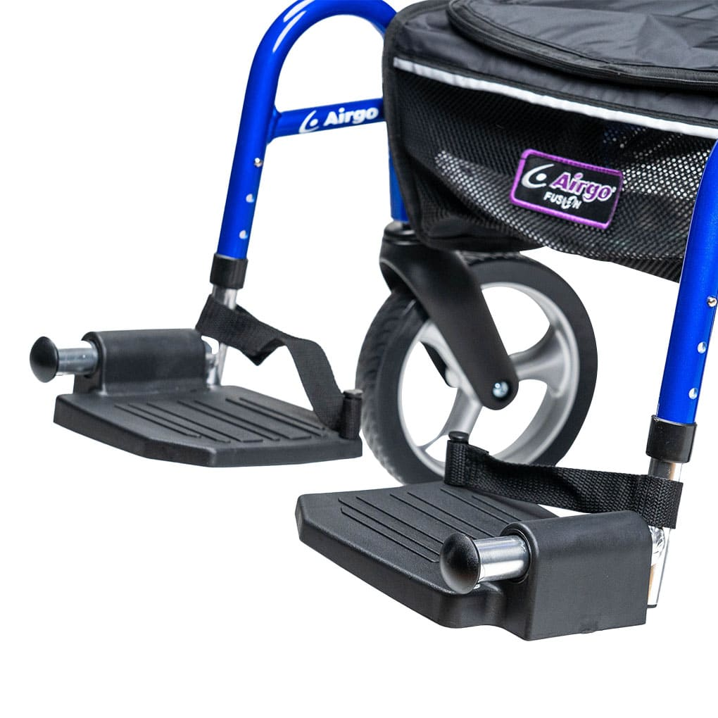 Airgo Fusion - Swingaway, height adjustable legrests with foot straps
