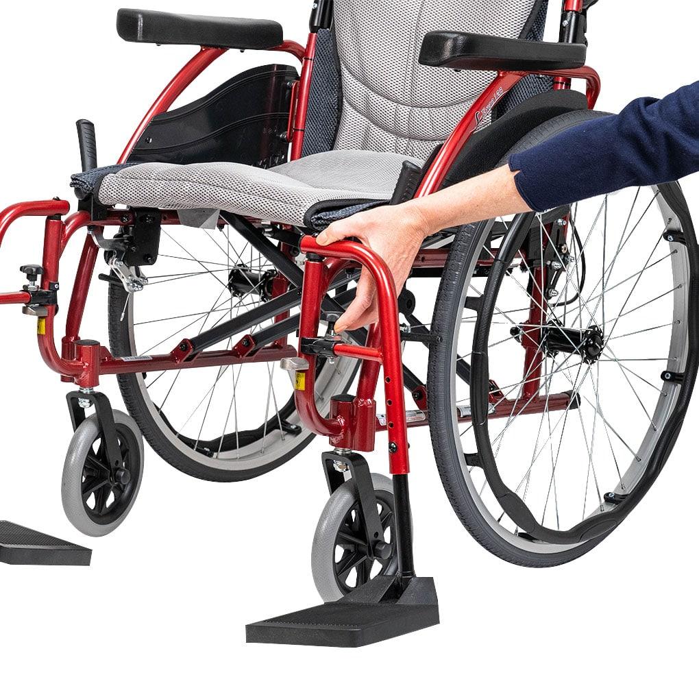 Karma S-Ergo 125 Transit Wheelchair - Swingaway footrest