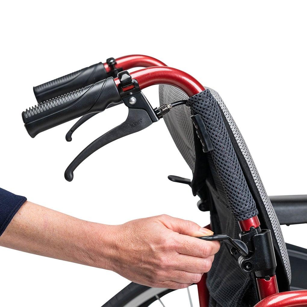 Karma S-Ergo 125 Transit Wheelchair - Fold down backrest