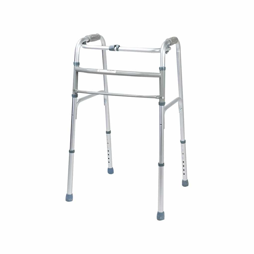 Peak Deluxe Side Folding Walking Frame - Angle View