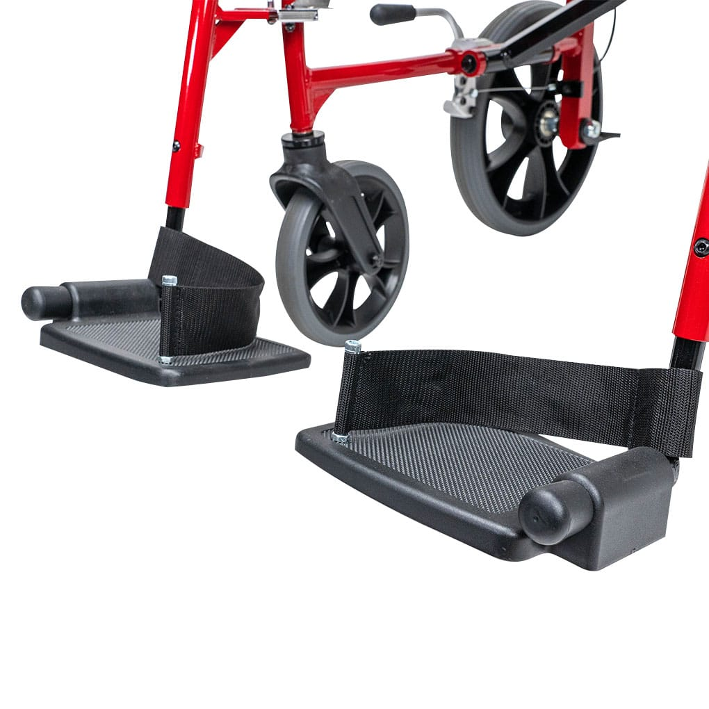Peak Venus Transit Wheelchair - Folding footrests with strap