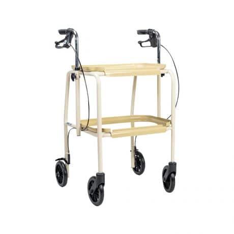 Adjustable Height Trolley Walker - Side Angle