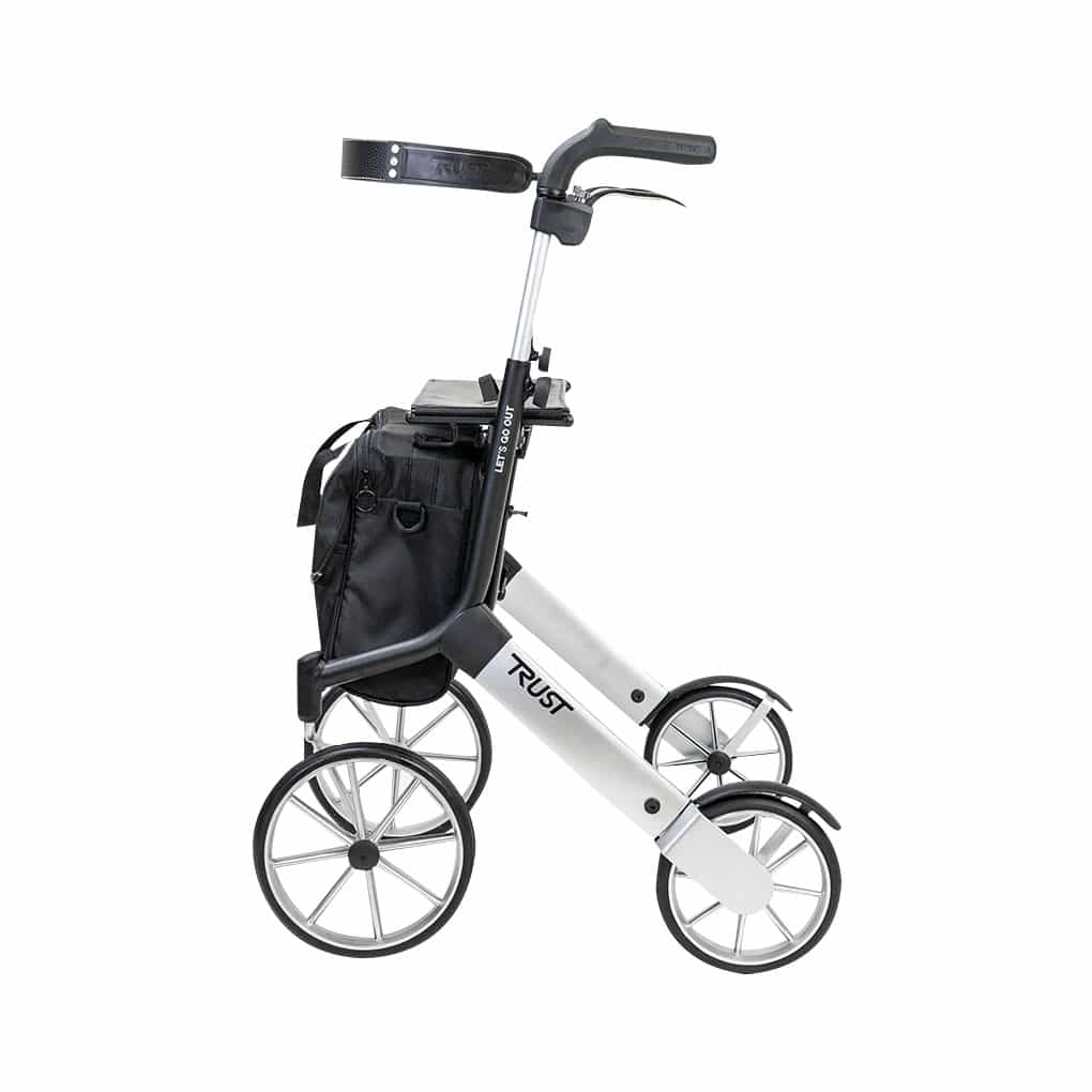 Trust Care Let's Go Out Rollator with backrest and bag