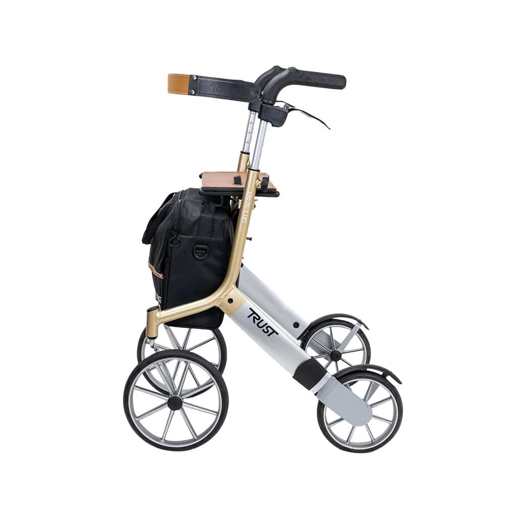 Trust Care Let's Go Out Rollator - Side View