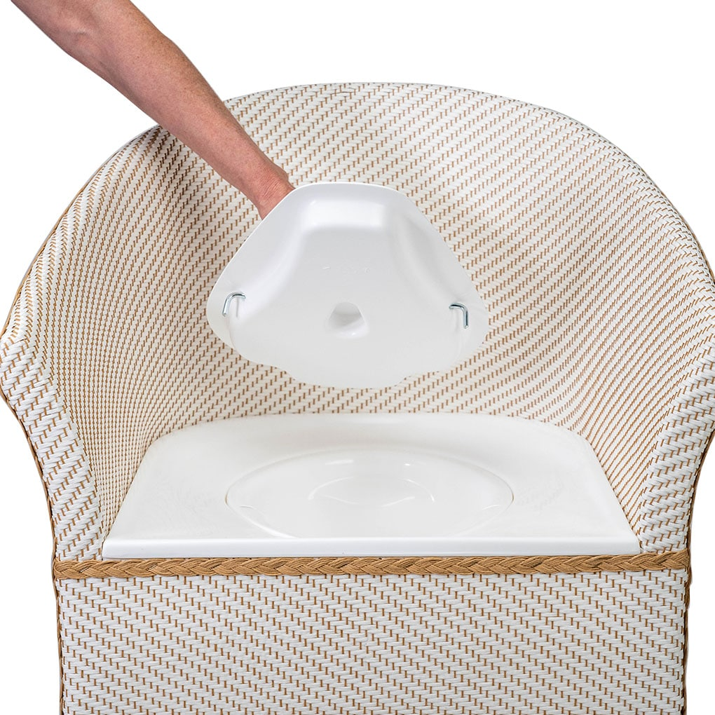 Deluxe Basketweave Commode - Commode Lid
