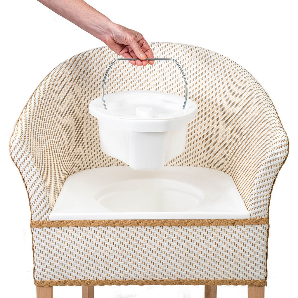 Deluxe Basketweave Commode - Commode View