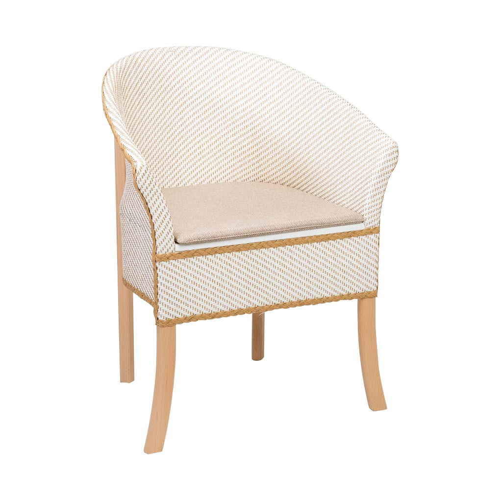 Deluxe Basketweave Commode - Right Angle View