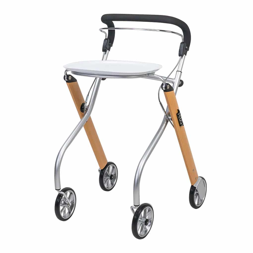 Trust Indoor Rollator with Tray - Bag Removed