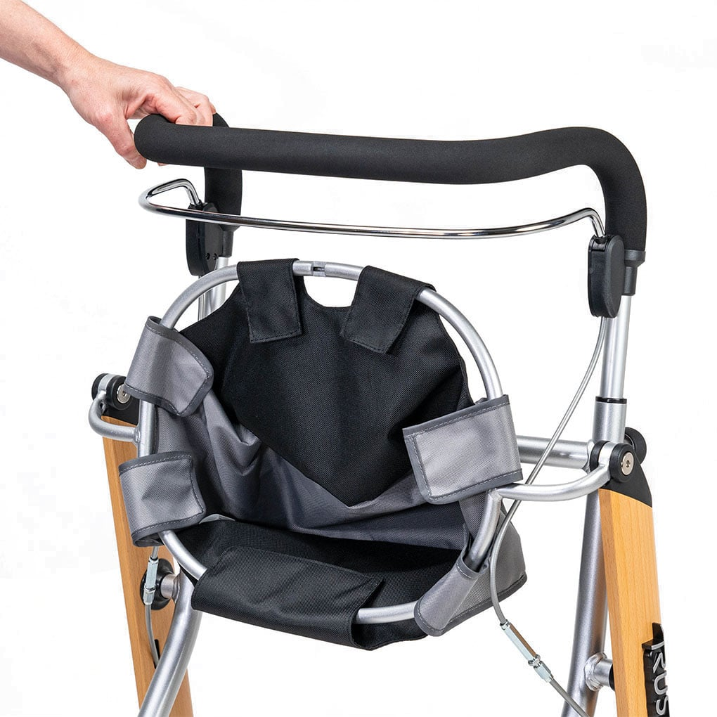 Trust Indoor Rollator with Tray - Folded