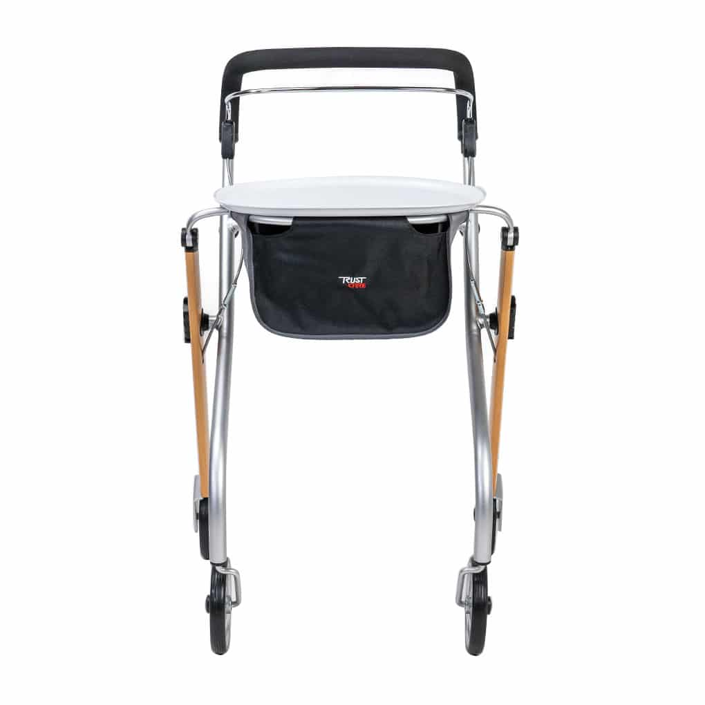 Trust Indoor Rollator with Tray - Front Angle