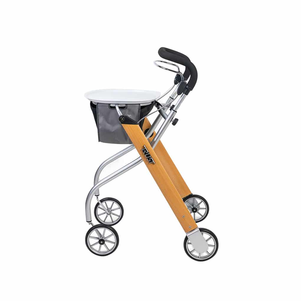 Trust Indoor Rollator with Tray - Side Angle