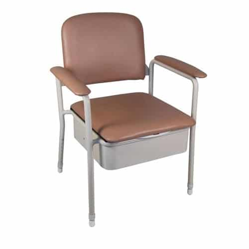 Deluxe Bedside Commode - 44cm width