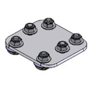 Molift Rail mounting bracket for switch